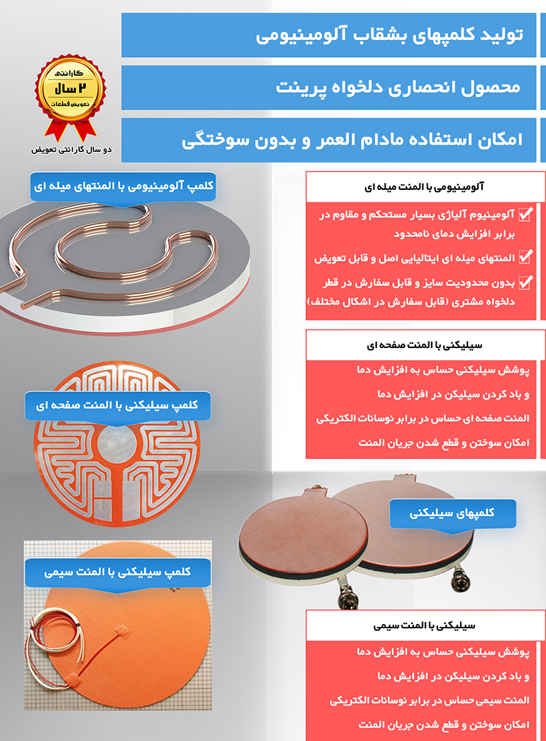 کلمپ های بشقاب آلومینیومی استفاده شده در محصولات دلخواه پرینت